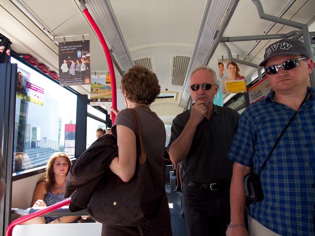 ... und mit dem Bus